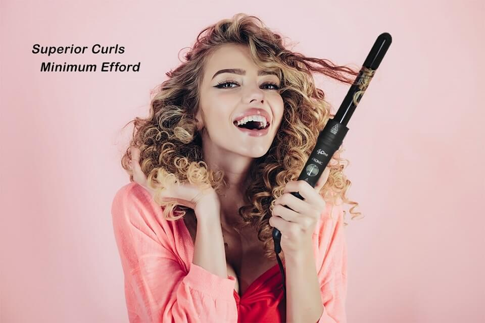 Curling wand smile