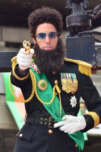 Sacha Baron Cohen dressed as his character from The Dictator in Cannes Film Festival © Joe Alvarez