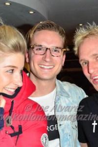Phoebe-Lettice Thompson, Oliver Proudlock and Jaime Laing at Serge DeNimes Party © Joe Alvarez