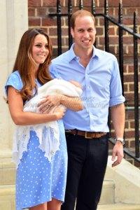 Prince George, Kate Middleton, Duchess of Cambridge, Duke of Cambridge, Prince William 22 July 2013 © Joe Alvarez