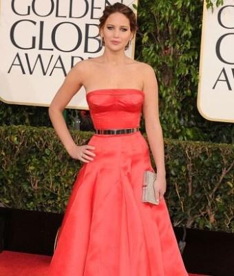 Jennifer Lawrence at Golden Globes 2014