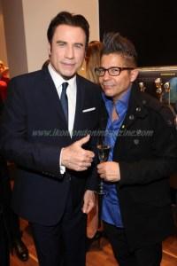 John Travolta and Joe Alvarez at the Breitling Store Opening in London