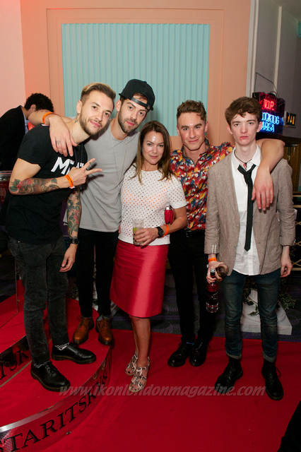 Fraser Taylor and Ben Jolliffe from Young Guns with Alexi Cory Smith, Rob Damiani from Don Broco and Sam MacIntyre from Marmozets Kerrang Awards