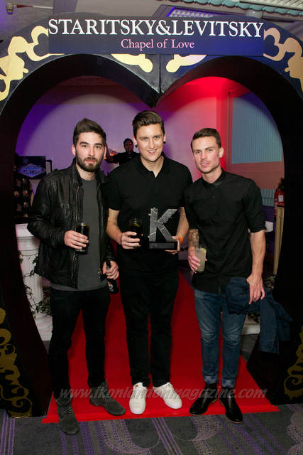 Matt Barnes and Dan Flint from You Me At Six with Dave Wallace (Centre)