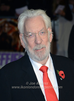 "Donald Sutherland at the London premiere of The Hunger Games ""Mockingjay - Part 1"" © Joe Alvarez"
