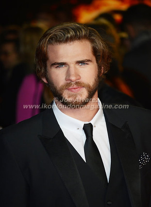 "Liam Hemsworth at the London premiere of The Hunger Games ""Mockingjay - Part 1"" © Joe Alvarez"