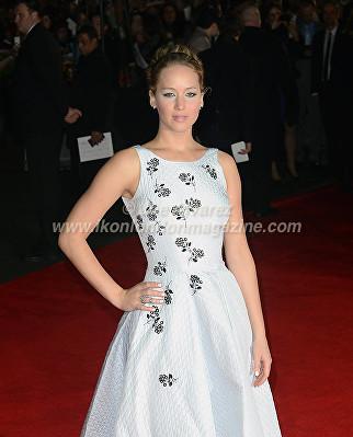 """Jennifer Lawrence at the London premiere of The Hunger Games """"Mockingjay - Part 1"""" © Joe Alvarez"""