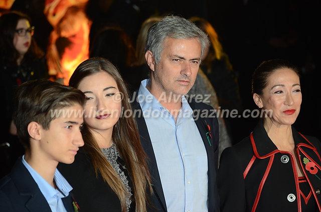"""Jose Mourinho at the London premiere of The Hunger Games """"Mockingjay - Part 1"""" © Joe Alvarez"""