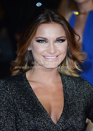 "Sam Faiers at the London premiere of The Hunger Games ""Mockingjay - Part 1"" © Joe Alvarez"