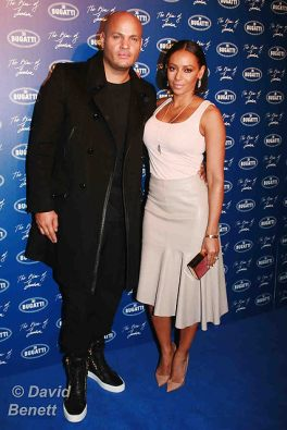 Mel B and Stephan Belafonte at Bugatti Lifestyle Store Launch