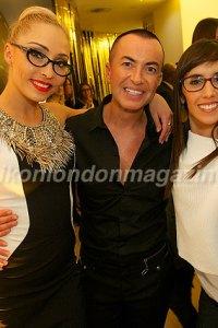 Iveta Lukosiute, Julien Macdonald and Janette Manrara at Vision Express collaboration launch party