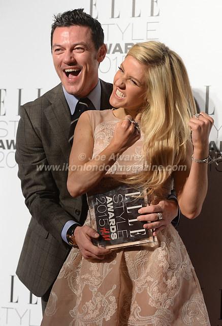 Ellie Goulding and Luke Evans attend the Elle Style Awards Awards at the Walkie Talkie Tower. © Joe Alvarez