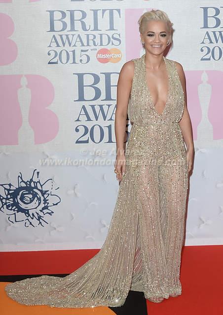 Rita Ora BRIT Awards 2015 © Joe Alvarez