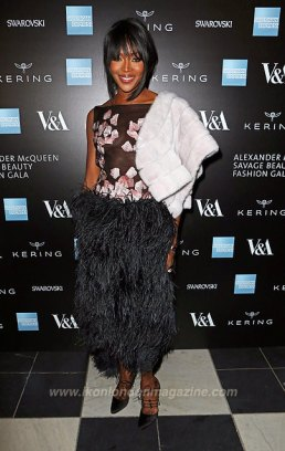 Naomi Campbell arrives at the Alexander McQueen: Savage Beauty Fashion Gala at the V&A, presented by American Express and Kering on March 12, 2015 in London, England. Pic Credit: Dave Benett