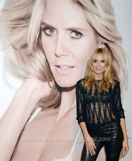 Heidi Klum Lingerie Collection Launch at Selfridges