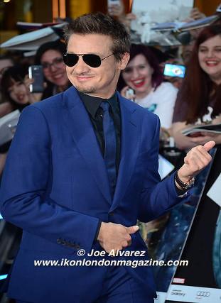 Jeremy Renner arrives at the Avengers: Age Of Ultron UK Premiere © Joe Alvarez