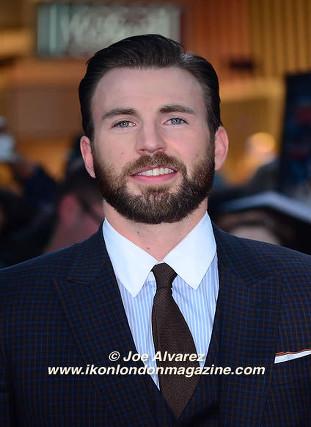 Chris Evans arrives at the Avengers: Age Of Ultron UK Premiere © Joe Alvarez