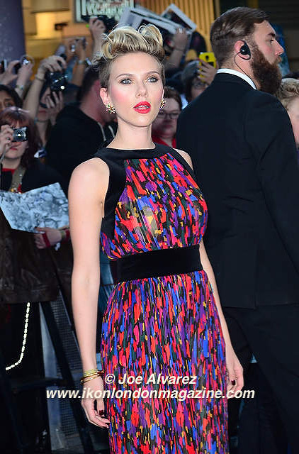 Scarlett Johanson Avengers arrives at the Avengers: Age Of Ultron UK Premiere © Joe Alvarez