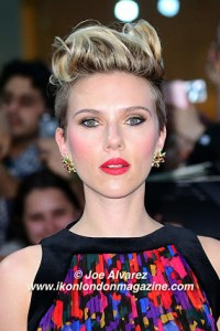 Scarlett Johanson Avengers arrives at the Avengers: Age Of Ultron UK Premiere © Joe Alvarez