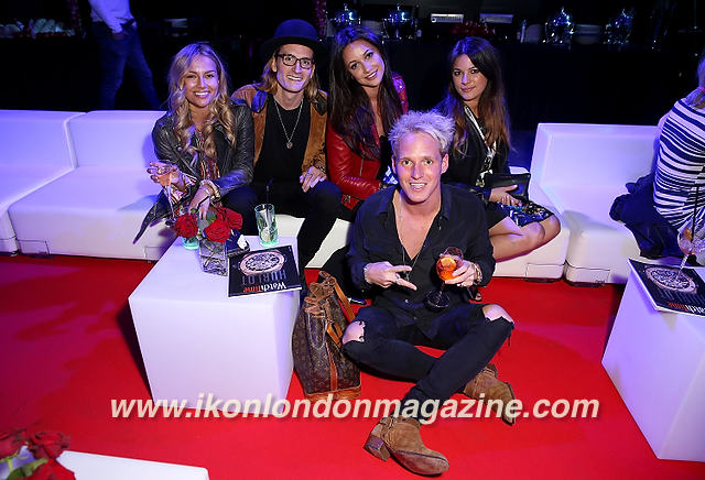 Oliver Proudlock, Emma Louise Connolly and Lamie Laing Ferrari 488 GTB launch party