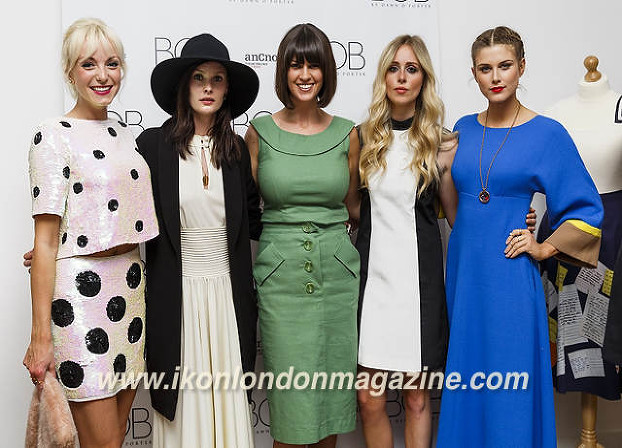 Helen George, Charlotte de Carle, Dawn O'Porter,Diana Vickers & Ashley James BOB By Dawn O'Porter