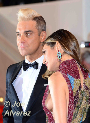 Robbie Williams and Ayda Field 68th Cannes Film Festival © Joe Alvarez