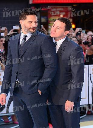 Joe Mangianello and Channing Tatum at the Magic Mike XXL European premiere, London © Joe Alvarez
