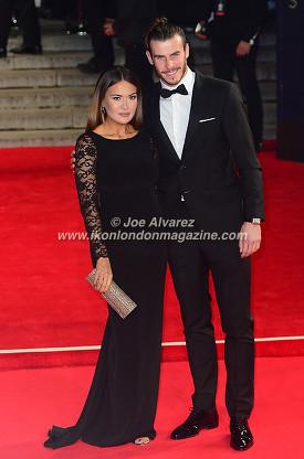 GARETH BALE & PARTNER at the World Premiere of Hames Bond Spectre at Royal Albert Hall © Joe Alvarez