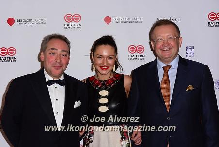 Mikhil Ingatiev, Ksenia Yakovenko, Alexander Yakovenko, Ambassador of Russia in London, UK Eastern Season Gala at Madame Tussauds © Joe Alvarez.jpg