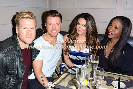 Sam Dowler, Casey Batchelor, Karen Bryson at UKAI Sushi launch in Noting Hill © Joe Alvarez