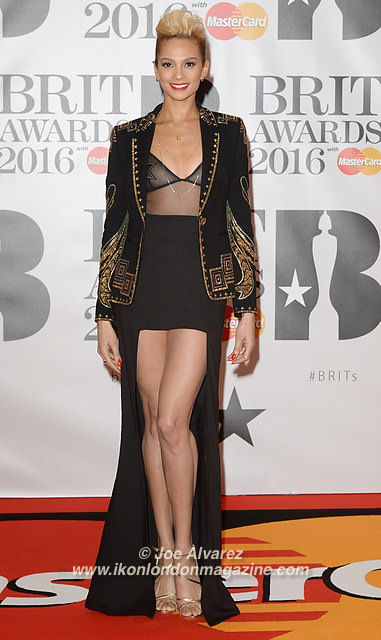 Alesha Dixon at BRIT Awards 2016 O2 Arena © Joe Alvarez