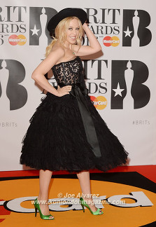 Kylie Minogue at BRIT Awards 2016 O2 Arena © Joe Alvarez