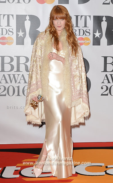 Florence Welch at BRIT Awards 2016 O2 Arena © Joe Alvarez