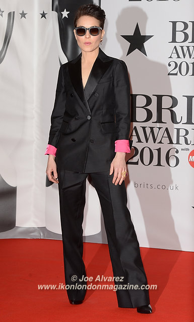 Noomi Rapace at BRIT Awards 2016 O2 Arena © Joe Alvarez