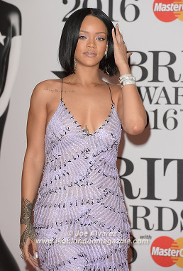 Rihanna at BRITs Awards 2016 O2 Arena © Joe Alvarez