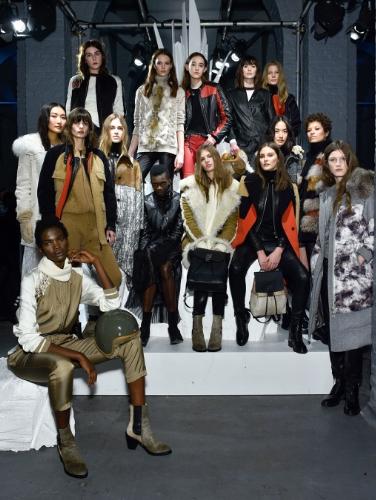 Belstaff at London Fashion Week,Winter 16 Collection, Group Model Shot (PRNewsFoto/Belstaff)