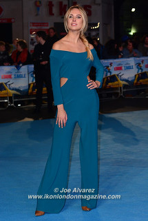 Kimberley Garner Eddie The Eagel European Premiere © Joe Alvarez