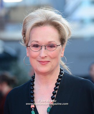 Merryl Streep at the Florence Foster Jenkins premiere © Joe Alvarez