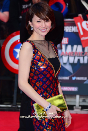 Ryoko Yonekura The Captain America: Civil War London premiere © Joe Alvarez