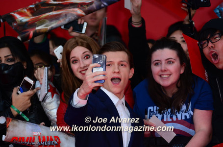 Tom Holland The Captain America: Civil War London premiere © Joe Alvarez