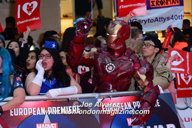 The Captain America: Civil War London premiere © Joe Alvarez