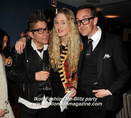 Tamara Orlova-Alvarez and Joe Alvarez, Darren Charman Ikon Fashion PoBlitz Party