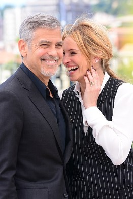 George Clooney, Julia Roberts The Money Monster Film Presscall Cannes Film Festival © Joe Alvarez