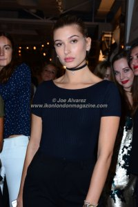 Hailey Baldwin At the Stradivarius party during London Fashion Week © Joe Alvarez