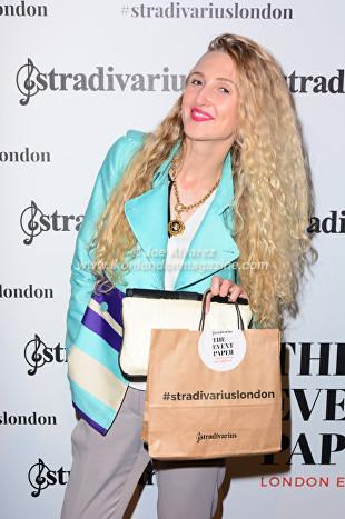 Tamara Orlova-Alvarez, At the Stradivarius party during London Fashion Week © Joe Alvarez