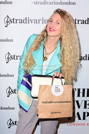 Tamara Orlova-Alvarez, At the Stradivarius party during London Fashion Week © Joe Alvarez