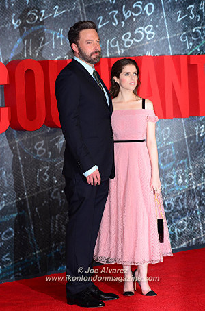 Ben Affleck and Anna Kendrick The Accountant Premiere in London © Joe Alvarez