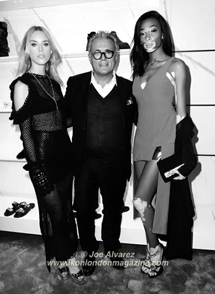 Mary Charteris, Giuseppe Zanotti, Winnie Harlow Giuseppe Zanotti Store Launch © Joe Alvarez