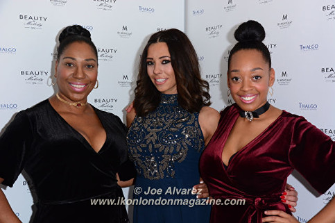 Imani Evans, Sue Evans, Pascal Craymer Beauty & Melody Spa Launch Party © Joe Alvarez