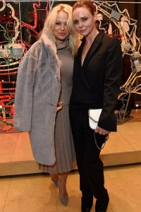 Pamela Anderson attends the Stella McCartney Christmas Lights switch on at the Stella McCartney Bruton Street Store on December 7, 2016 in London, England.